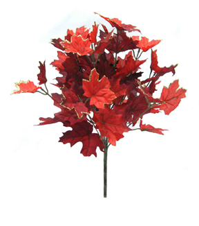 Blooming Autumn 18'' Maple Leaf Bush-Red & Burgundy