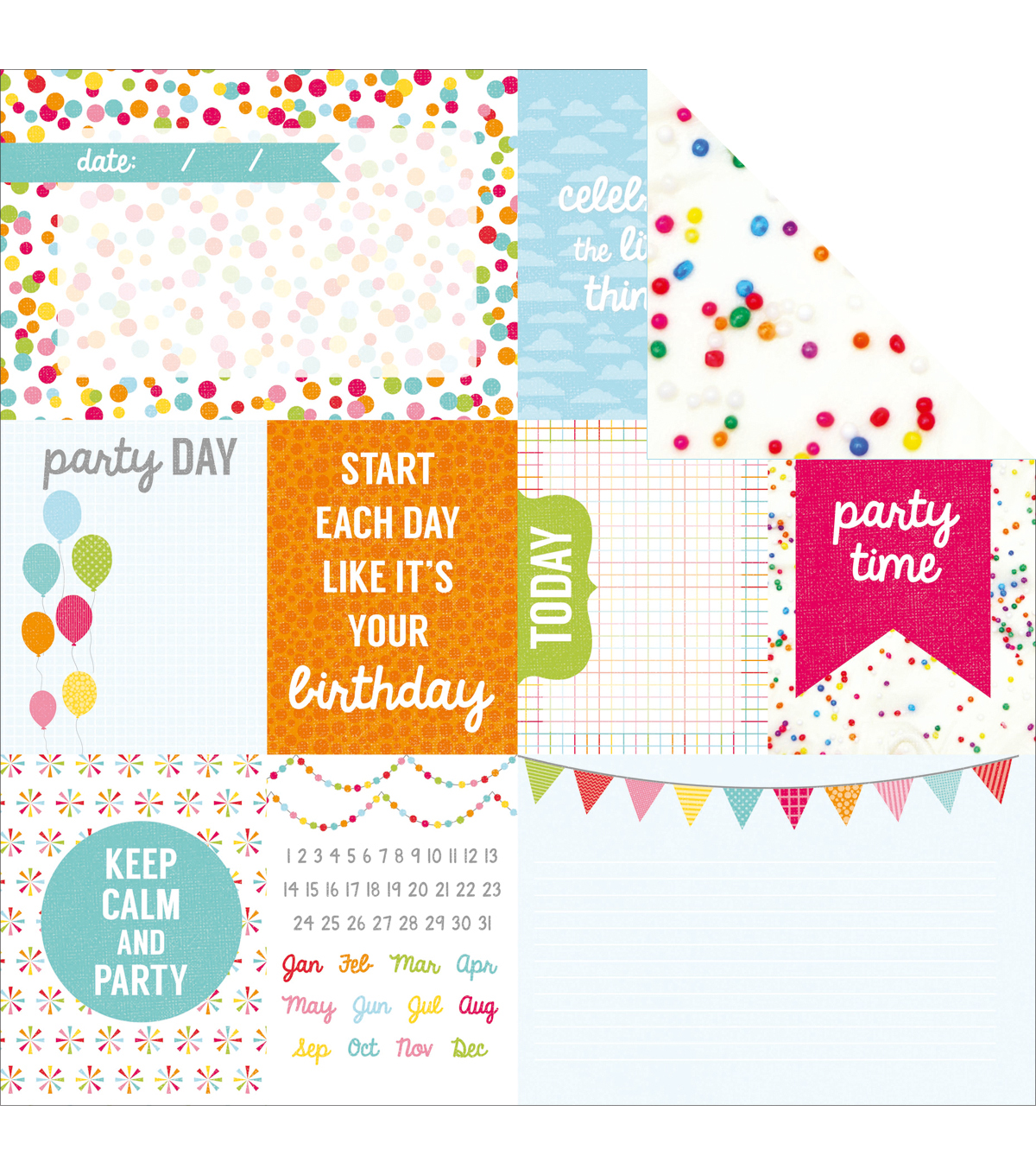 "Kaisercraft-Pop! Double-Sided Cardstock 12""X12""-Frosting"