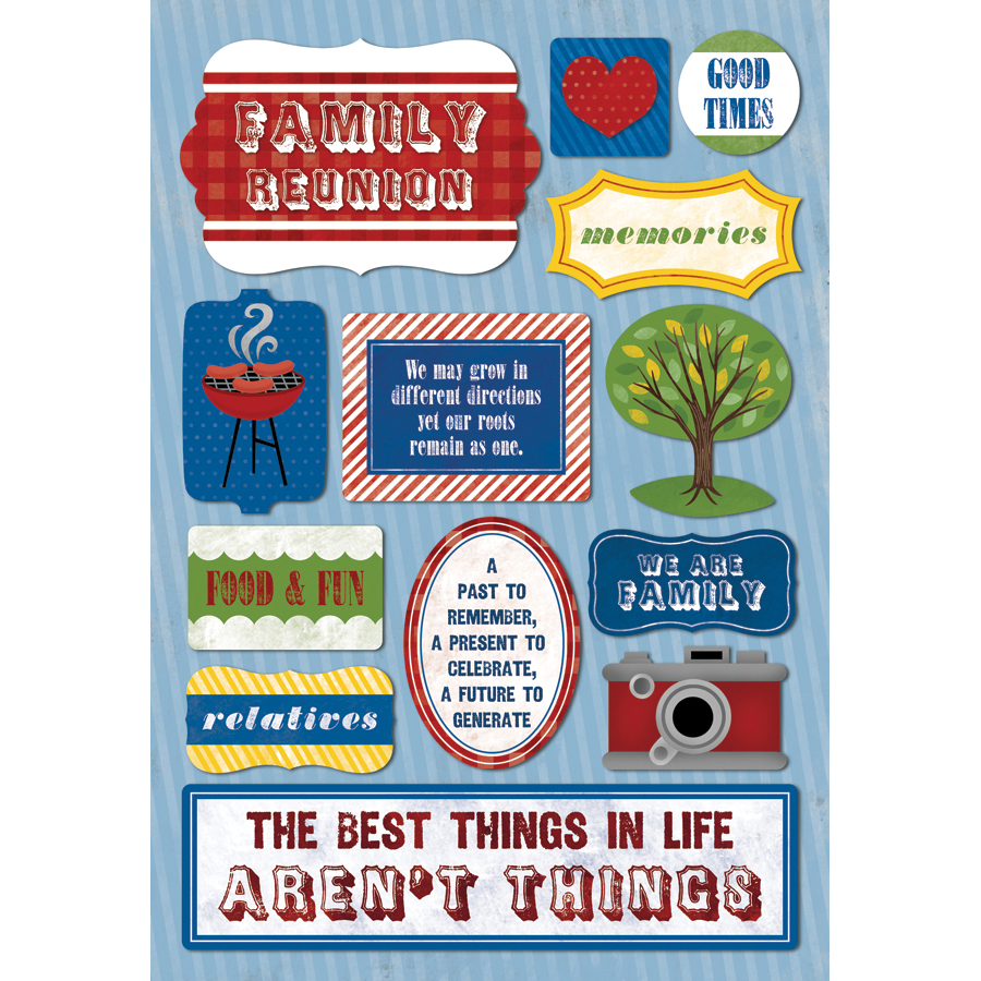 Karen Foster Family Cardstock Stickers We Are Family