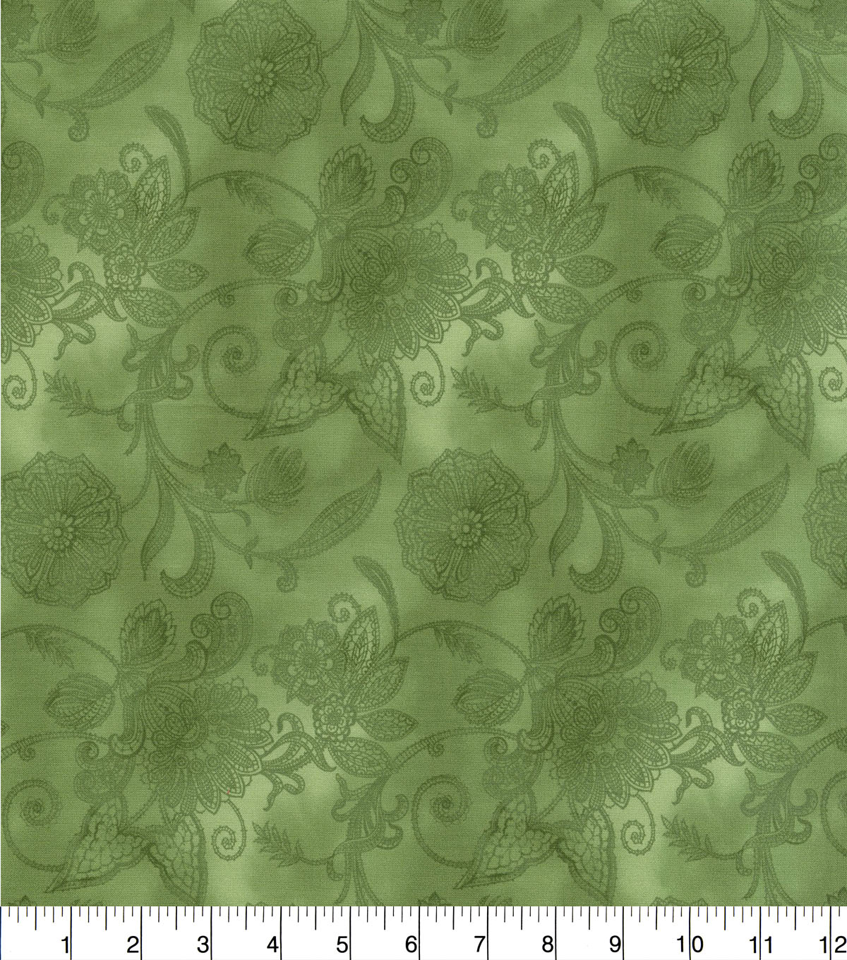Hi Fashion Premium Quilt Fabric 44\u0022-Green Lace