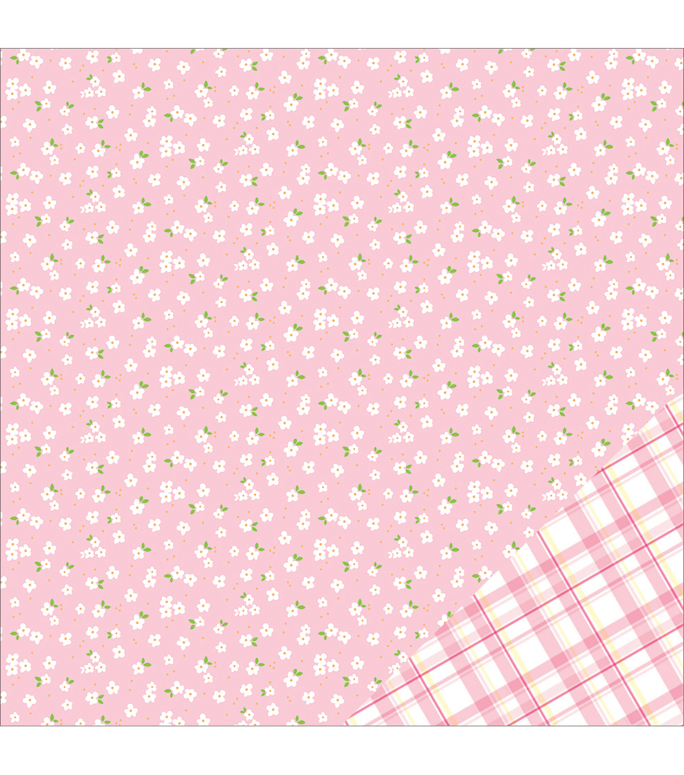 American Crafts Basics Flower Double-Sided Cardstock