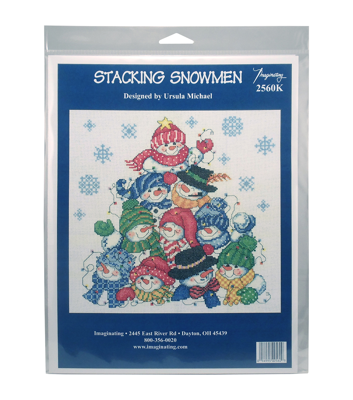 Imaginating Counted Cross Stitch Kit-Stacking Snowmen