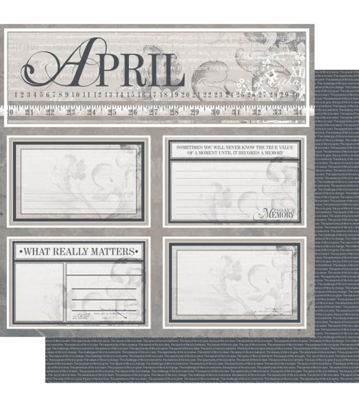 Ruby Rock-It Year In Review April Double-Sided Cardstock