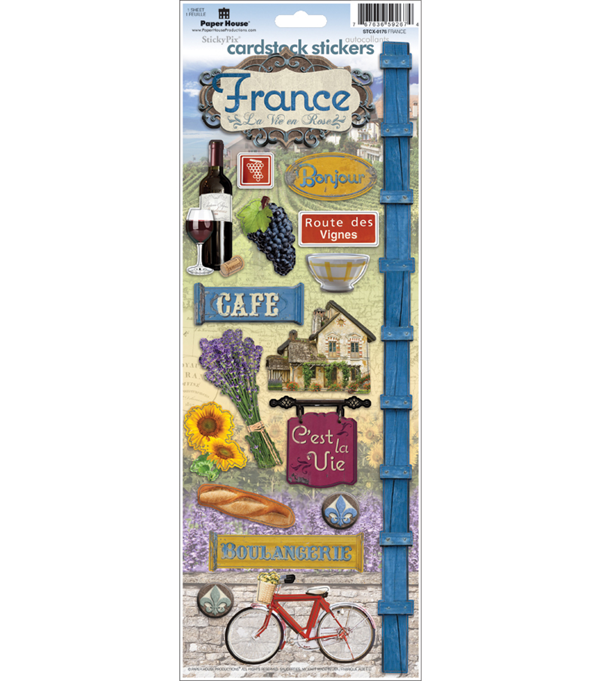 Cardstock Stickers -France