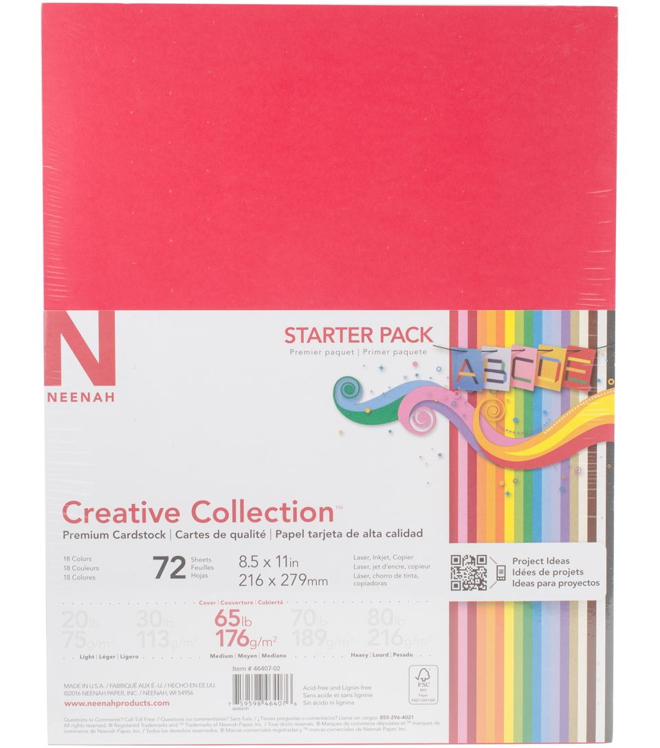 "Creative Collection Cardstock Starter Pack 8.5""X11""-18 Bold"