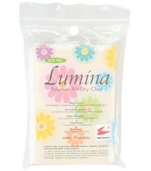 Lumina Polymer Air Dry Clay 5.29oz-Translucent