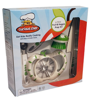 Curious Chef 6-Piece Fruit & Veggie Prep Kit