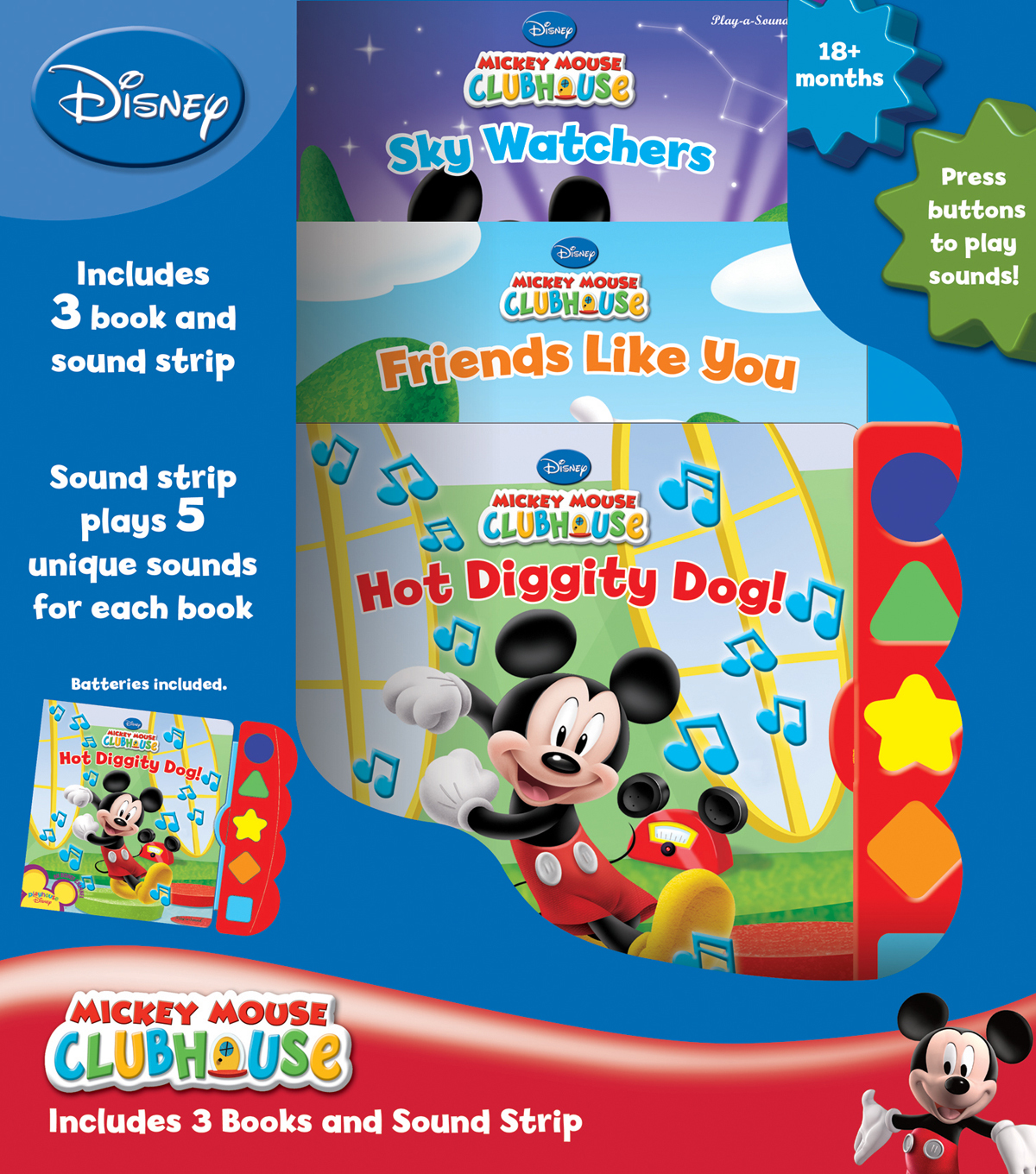 Disney® Mickey Mouse Clubhouse Play-a-Sound Book Set