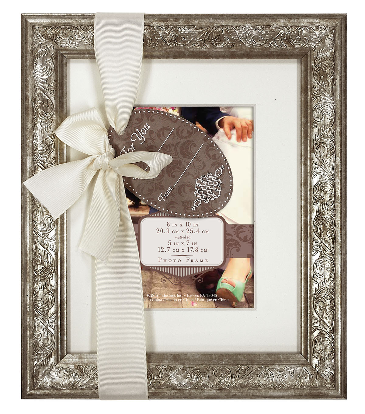 Wall Frame 8X10 To 5X7 Champagne Shimmer