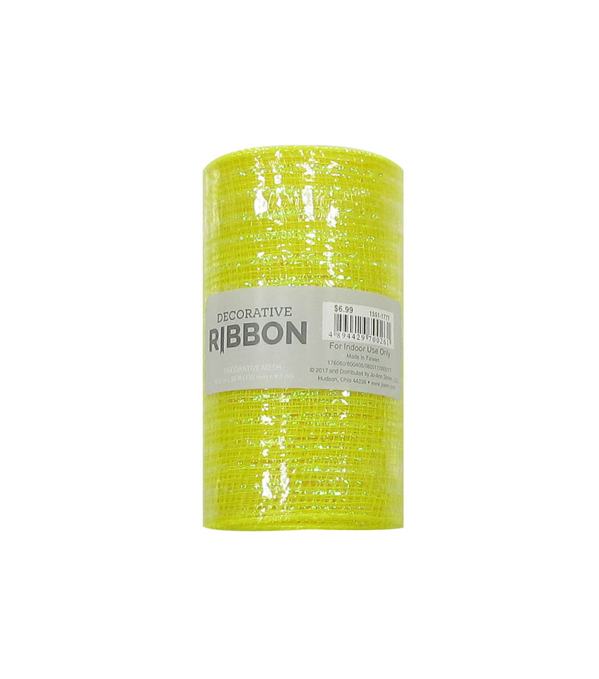 Decorative Ribbon Metallic Deco Mesh 5.5\u0027\u0027x10 yds-Yellow