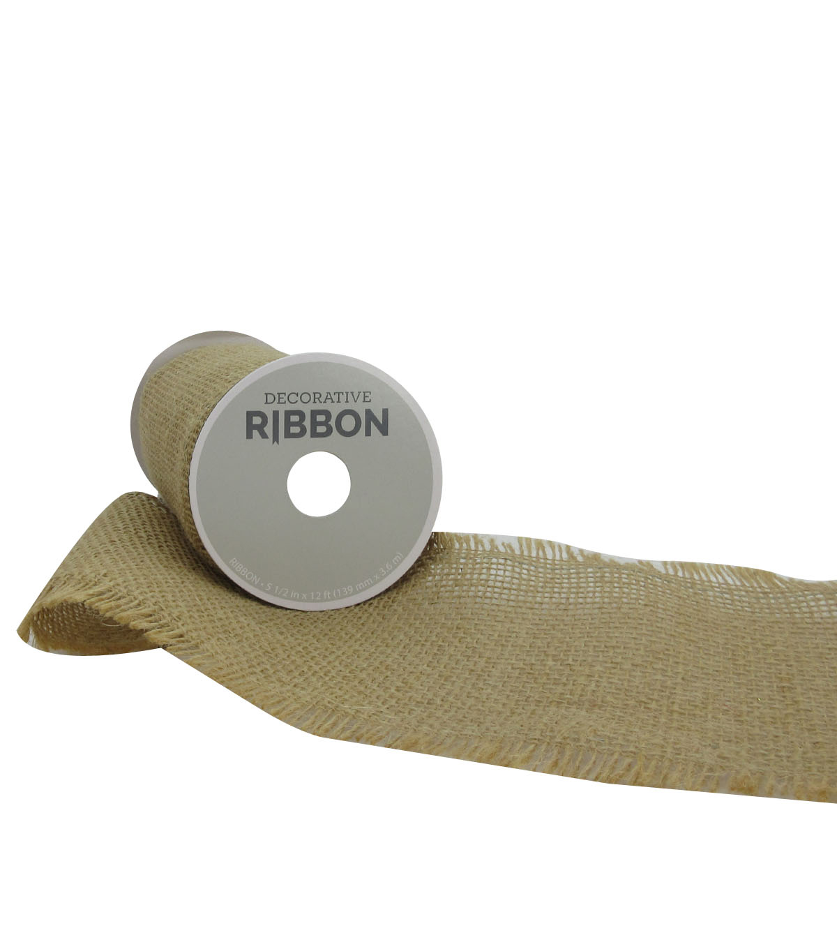 Decorative Ribbon 5.5\u0022 Brush Burlap Ribbon-Natural