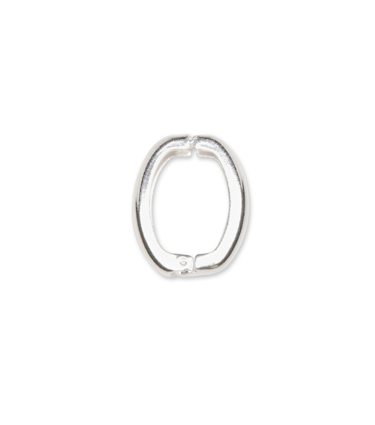 Bright Silver Clip Loop for Pendants, 13mm x 10mm