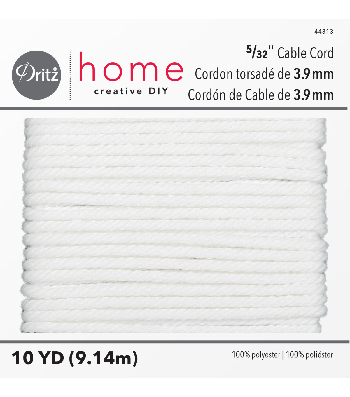 Dritz Home 10yd 5/32\u0022 Polyester Cable Cord