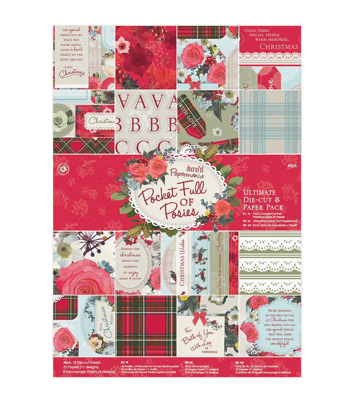 Papermania Pocket Full Of Posies Ultimate Die-Cuts & Paper Pack