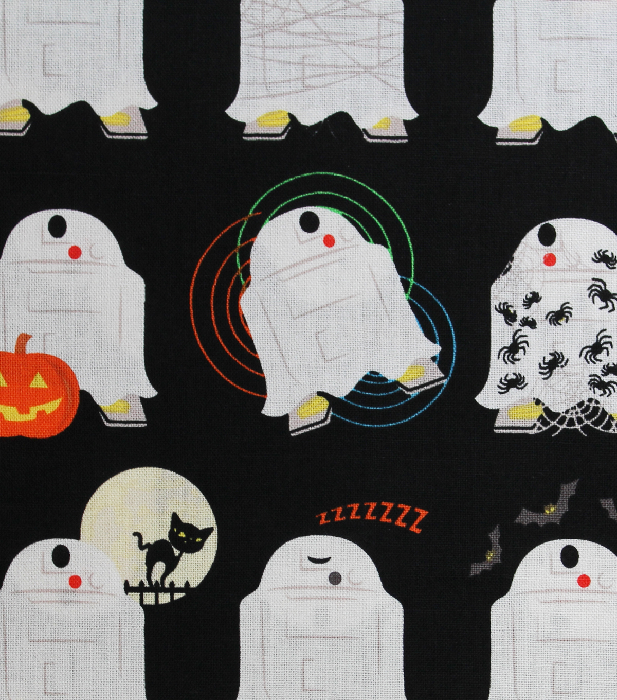 Halloween Cotton Fabric 44''-Star Wars & Halloween on Black