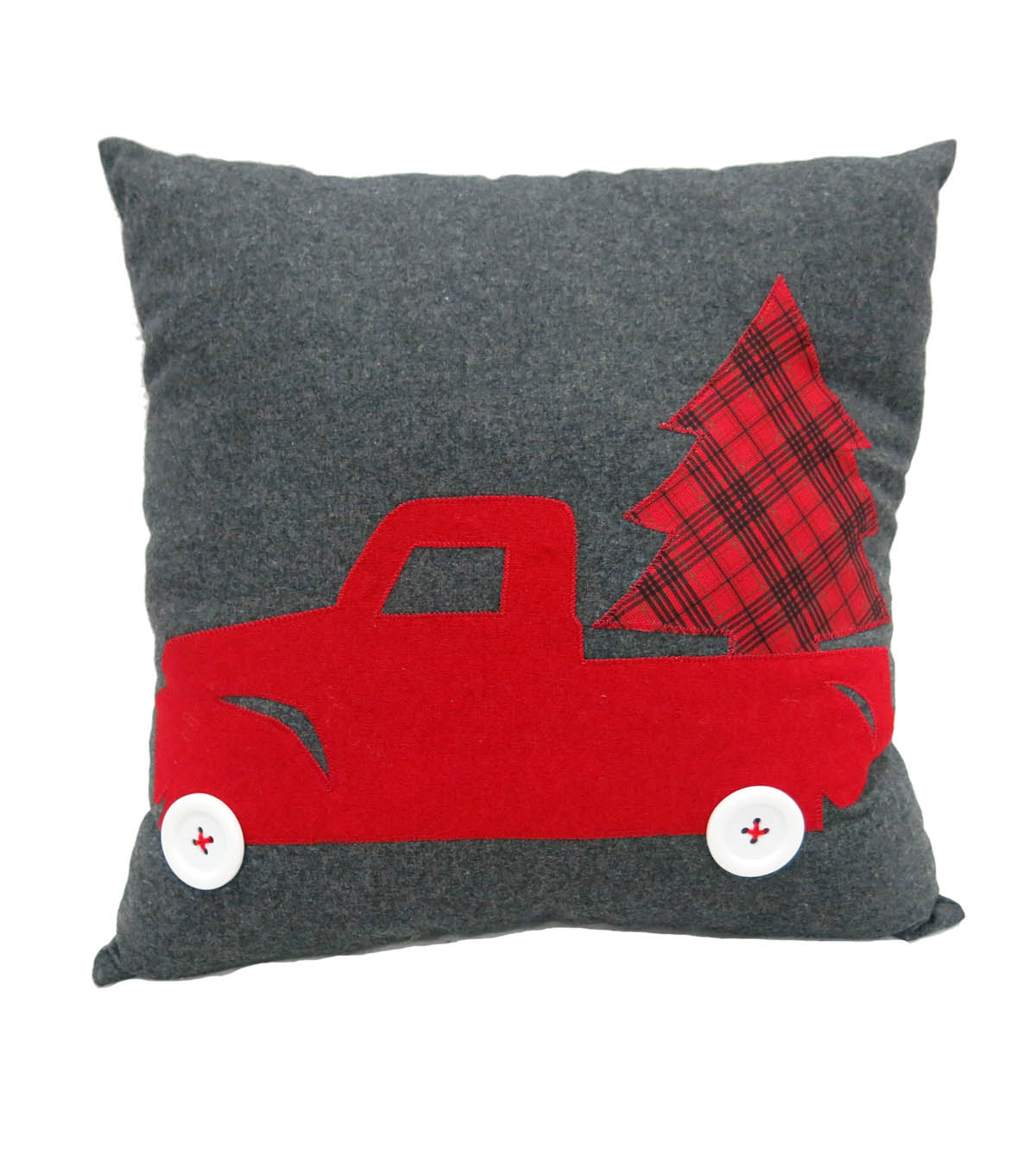 Maker\u0027s Holiday Pillow-Truck & Tree