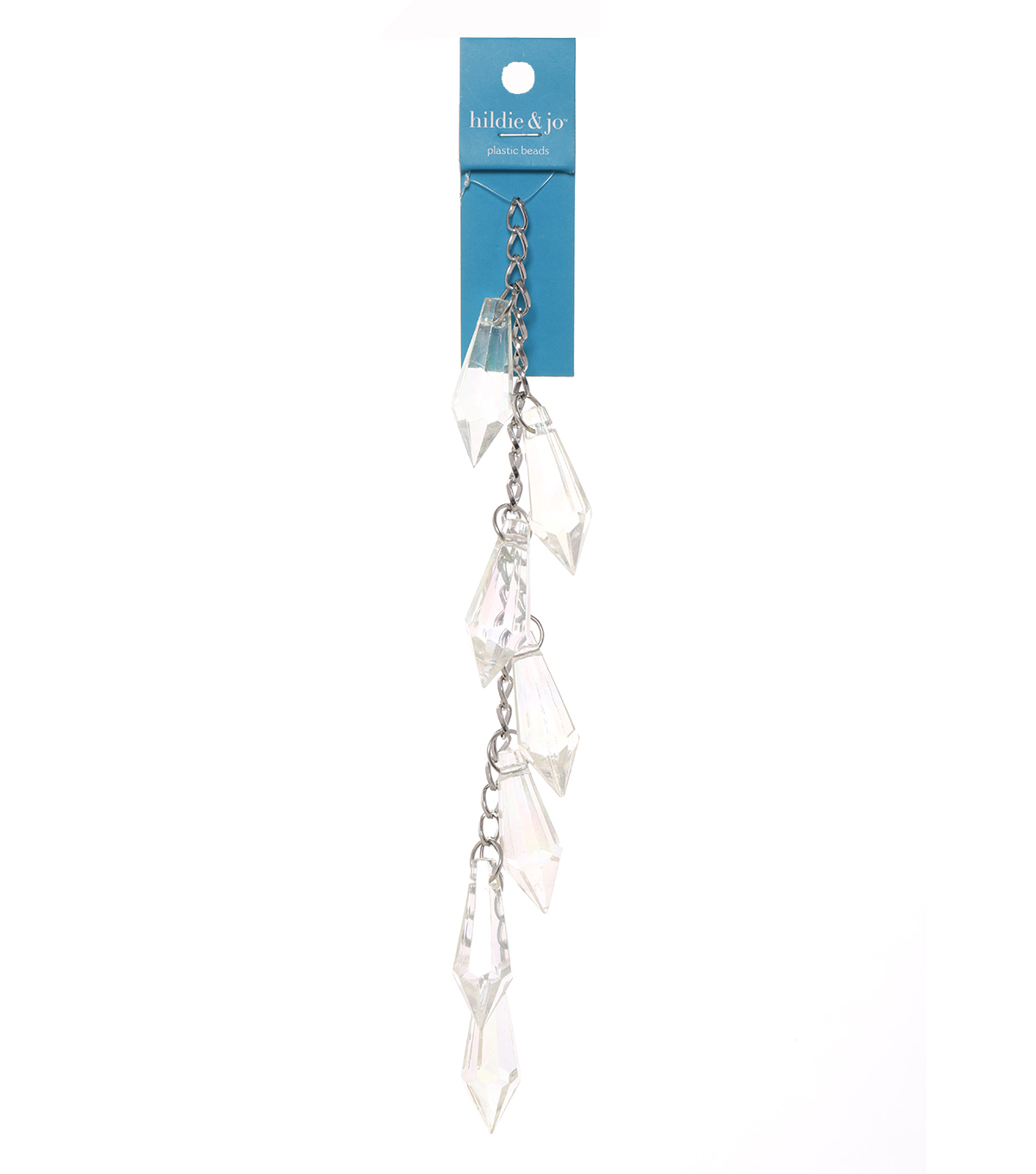 Blue Moon Bead Strands Acrylic Pointy Dangles Clear AB