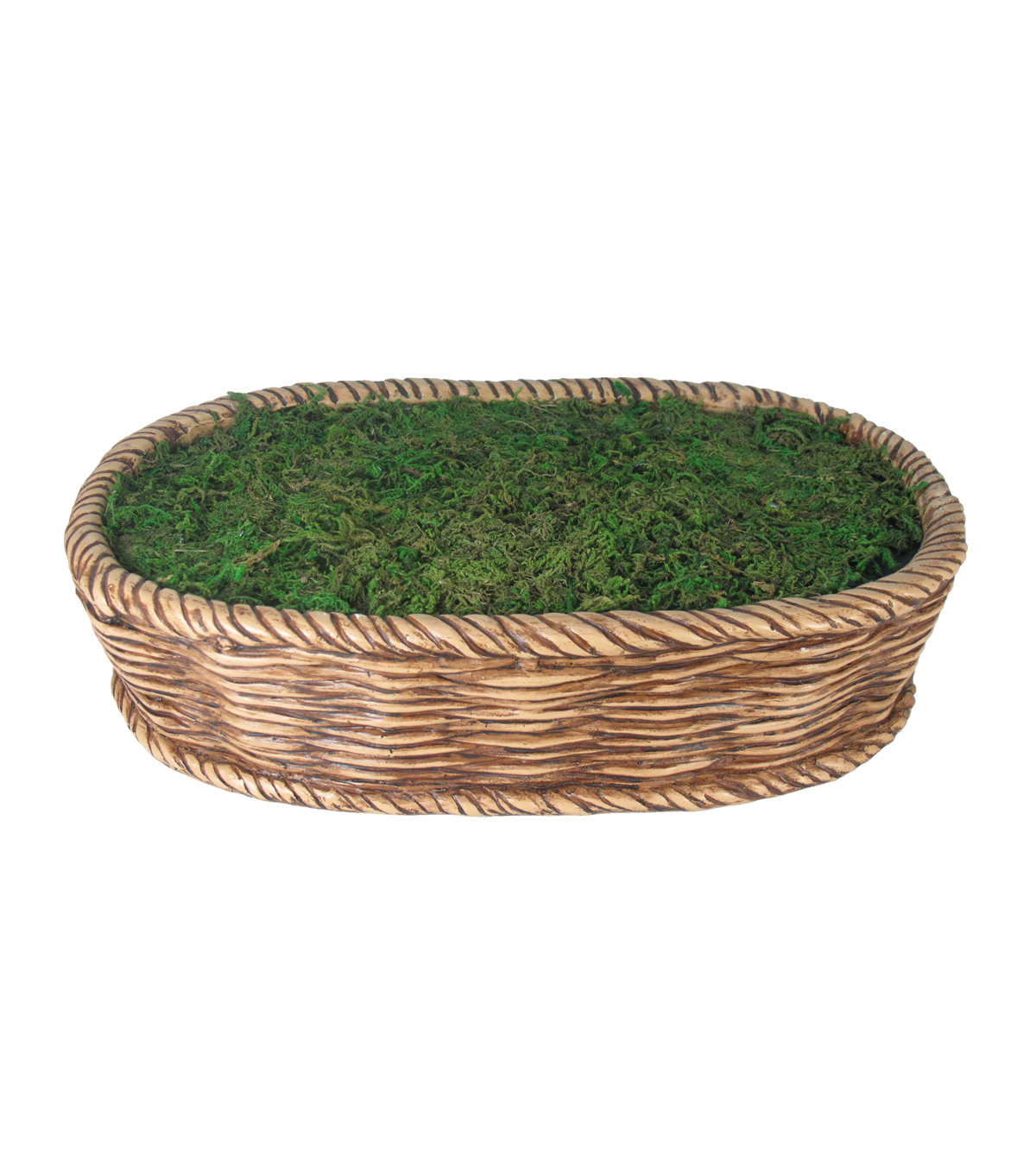 Bloom Room Littles Resin Woven Basket Container