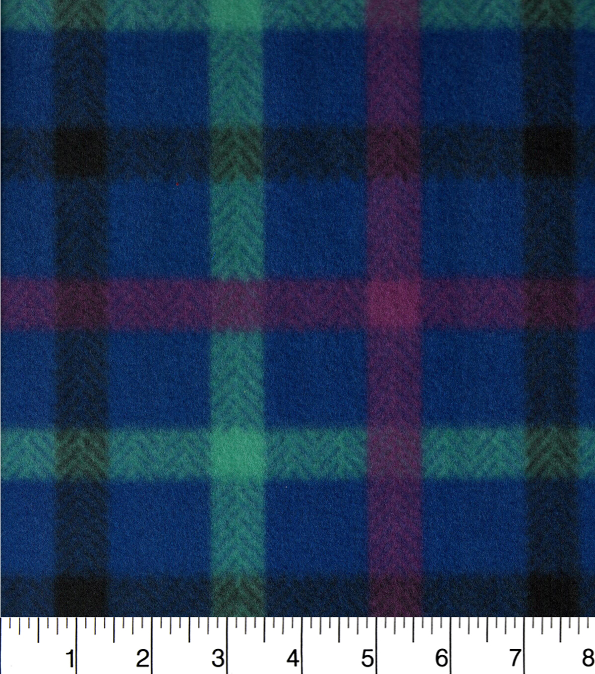 "Blizzard Fleece Fabric 58""-Purple And Blue Plaid"