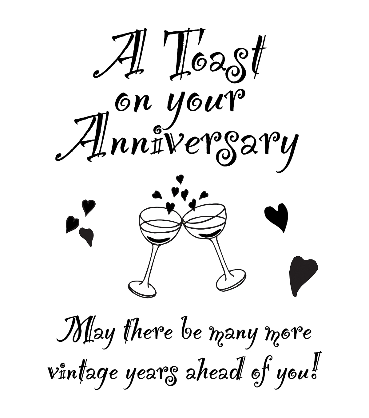 "My Sentiments Exactly Clear Stamps 3""X4"" Sheet-Anniversary"