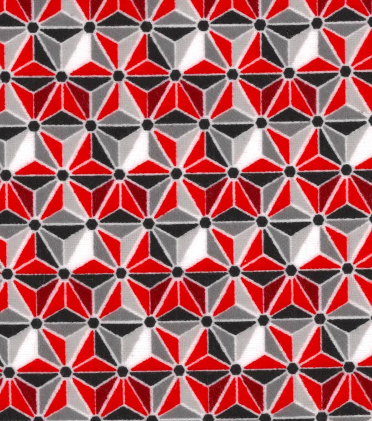 Snuggle Flannel Fabric 42\u0022-Geometric Red