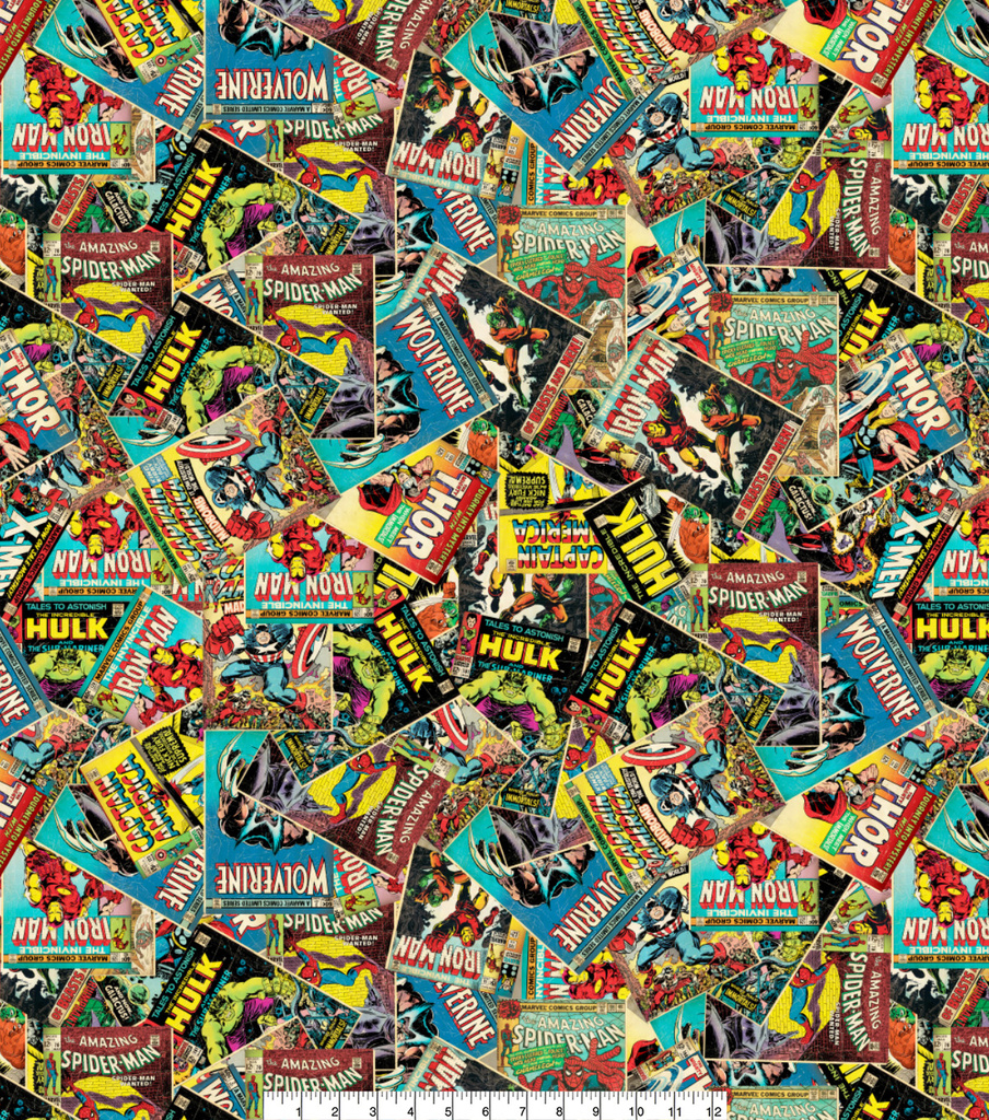 Marvel Comics™ Cotton Fabric 44\u0022-Retro Comic