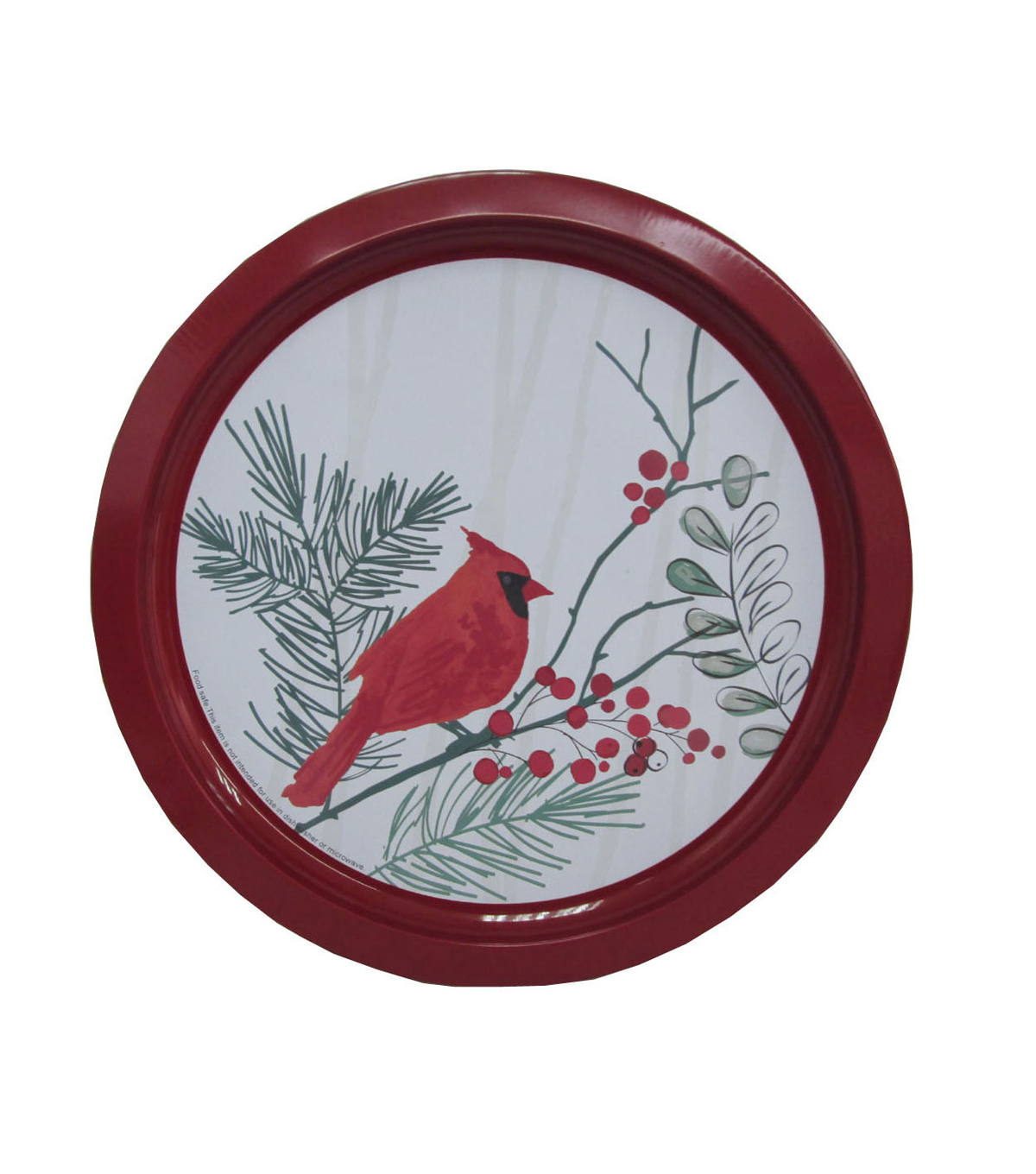 Maker\u0027s Holiday Christmas Cookie Platter-Cardinal