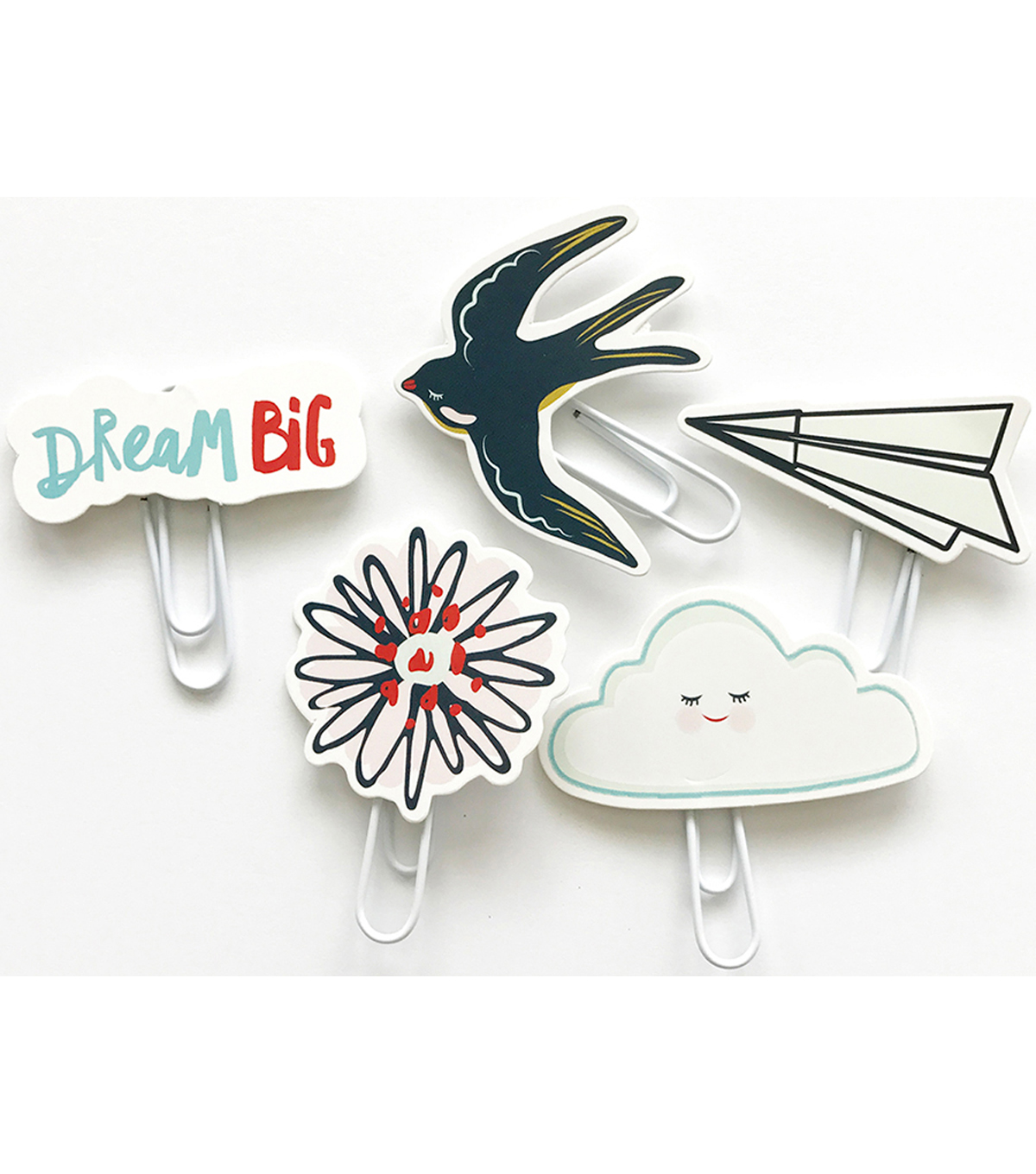 Dream Big Die-Cut Paper Clips