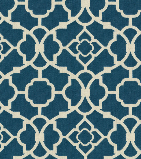 Ordinaire Waverly Upholstery Fabric 54\u0022 Lovely Lattice Lapis