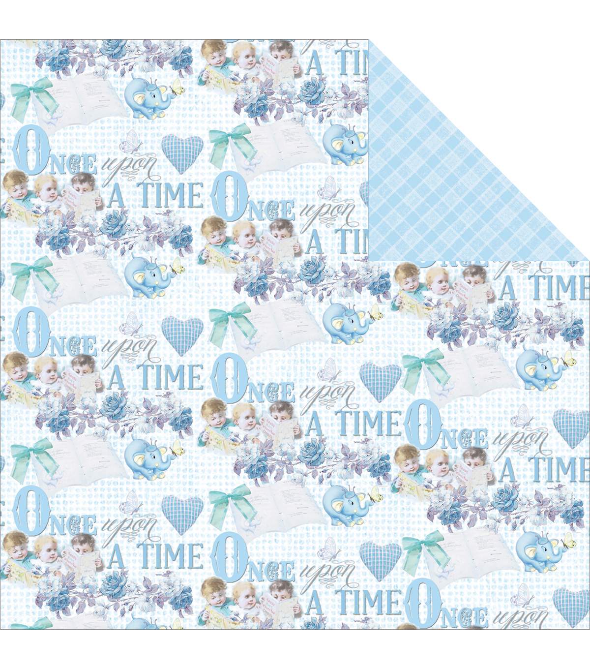 Fabscraps Royal Baby Baby Boy Double-Sided Cardstock