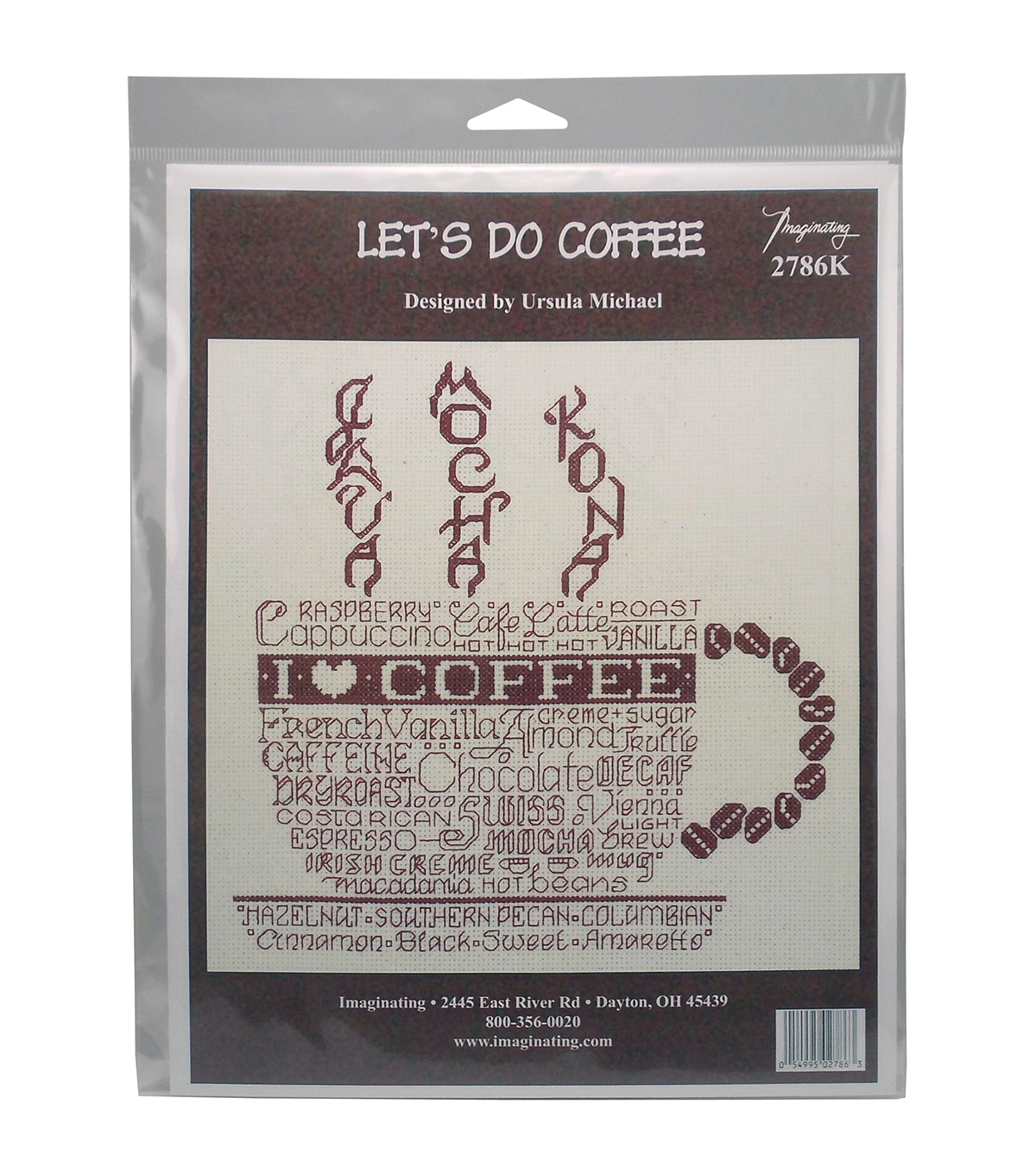Imaginating Counted Cross Stitch Kit-Let\u0027s Do Coffee