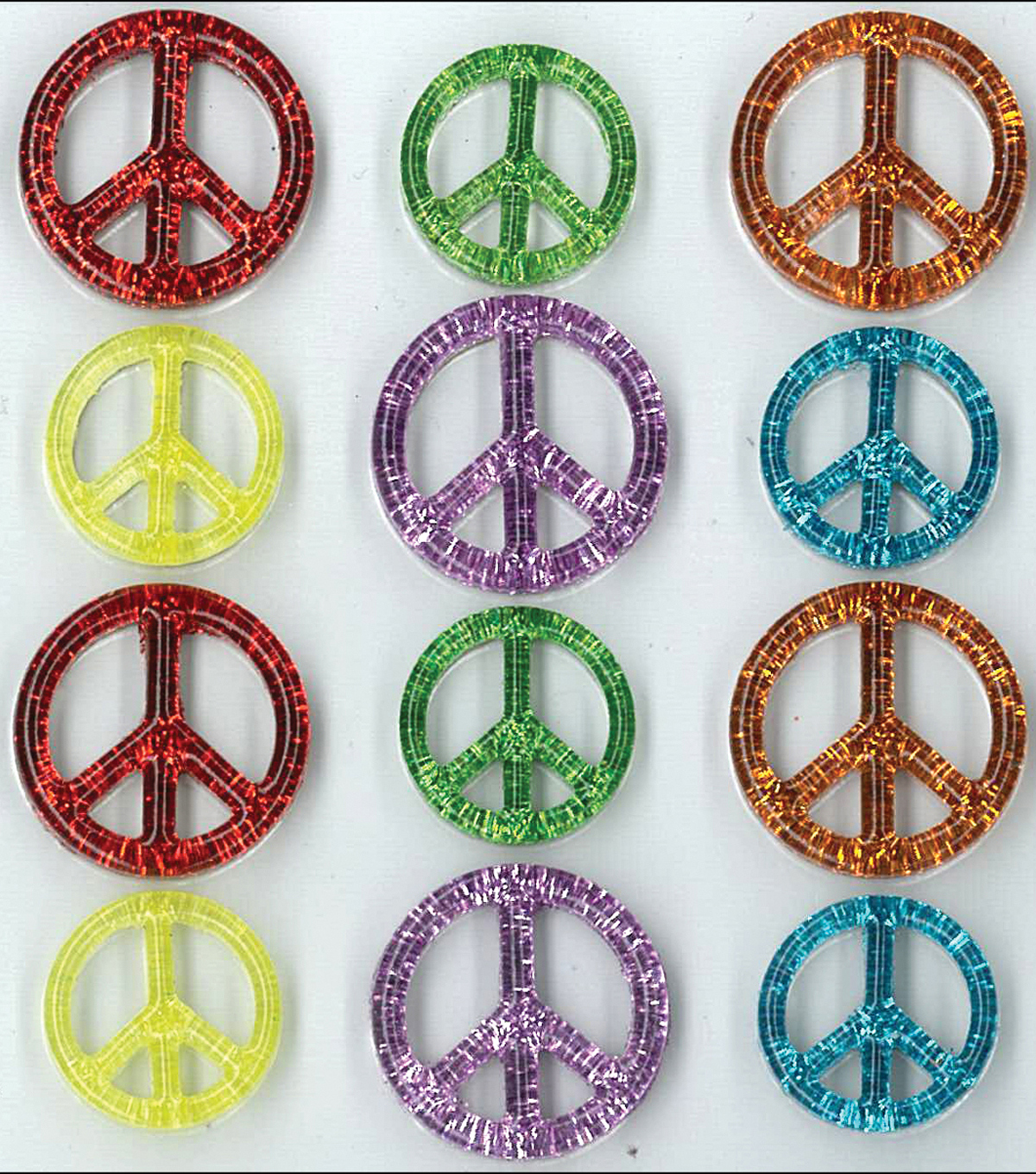 Jolee\u0027s Cabochons Stickers-Peace Signs