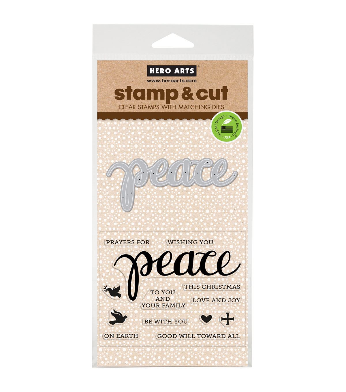 Hero Arts® Stamp & Cut-Peace