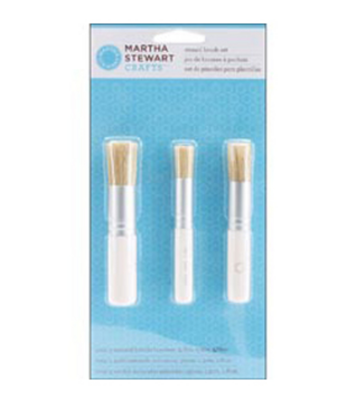 Martha Stewart Stencil Brush Set 3/Pk