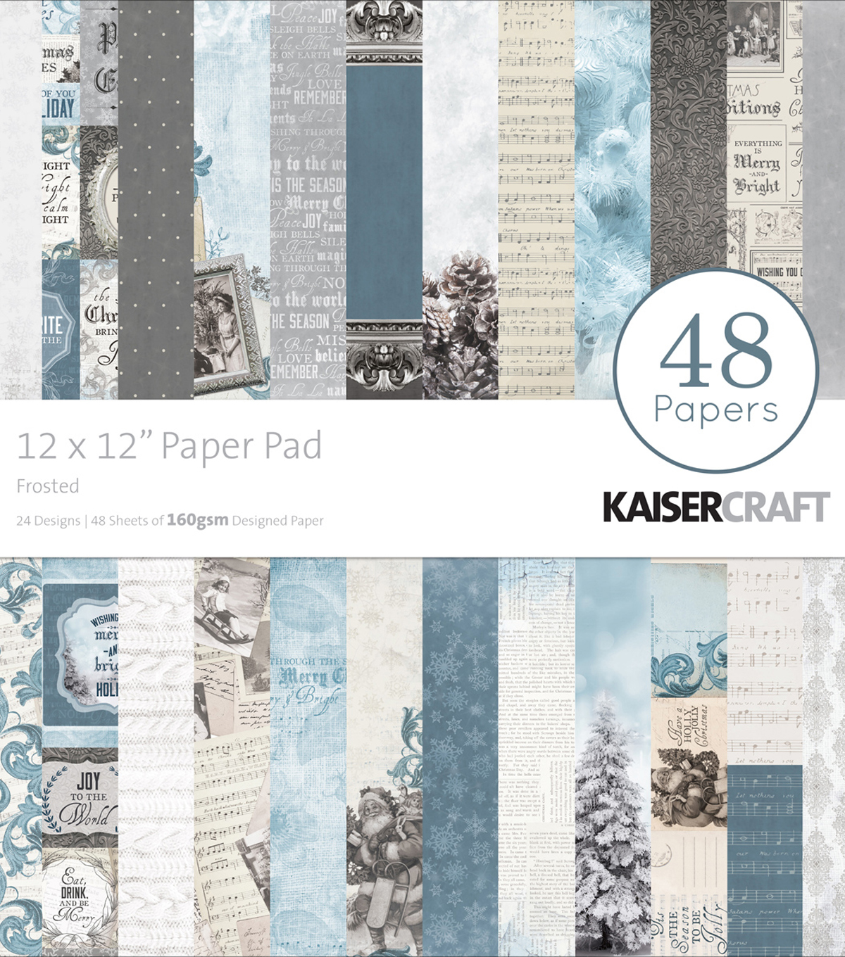 "Kaisercraft Paper Pad 12""X12""-Frosted"