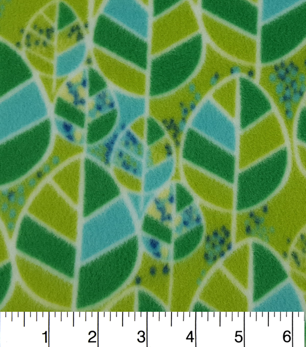"Anti-Pill Fleece Fabric 59""-Nature Leaves"