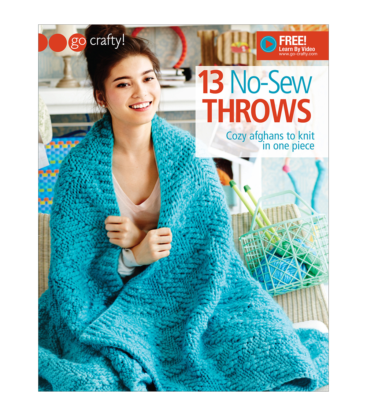 13 No-Sew Throws Knitting Book