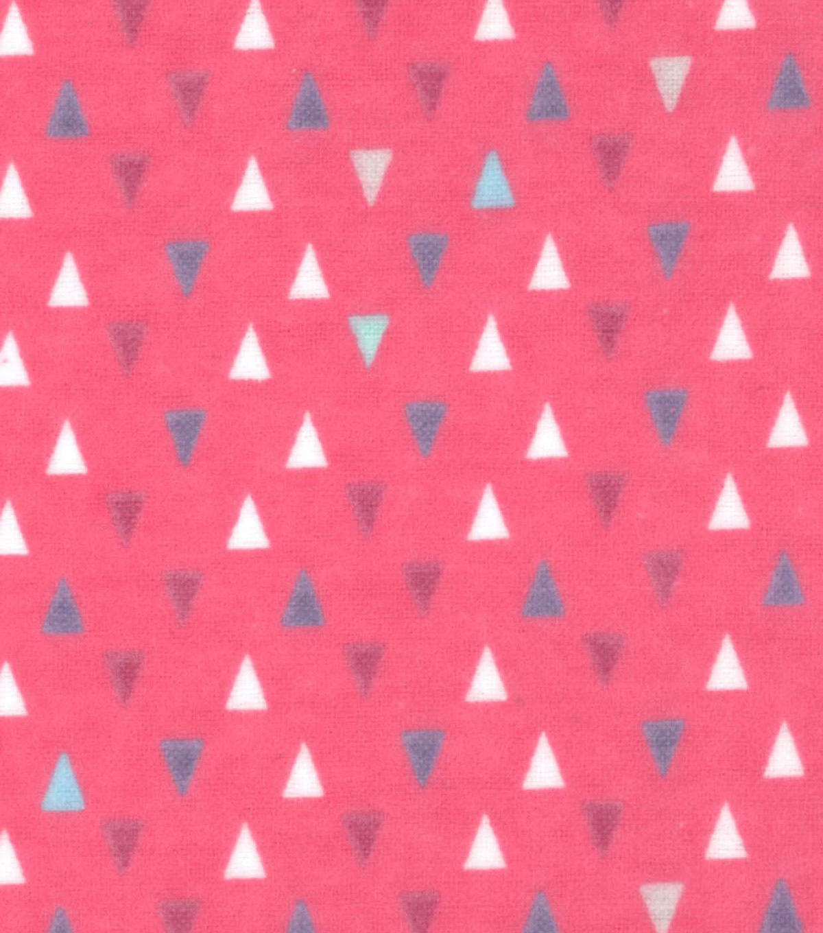 "Snuggle Flannel Fabric 42""-Gypsy Pink Triangles"