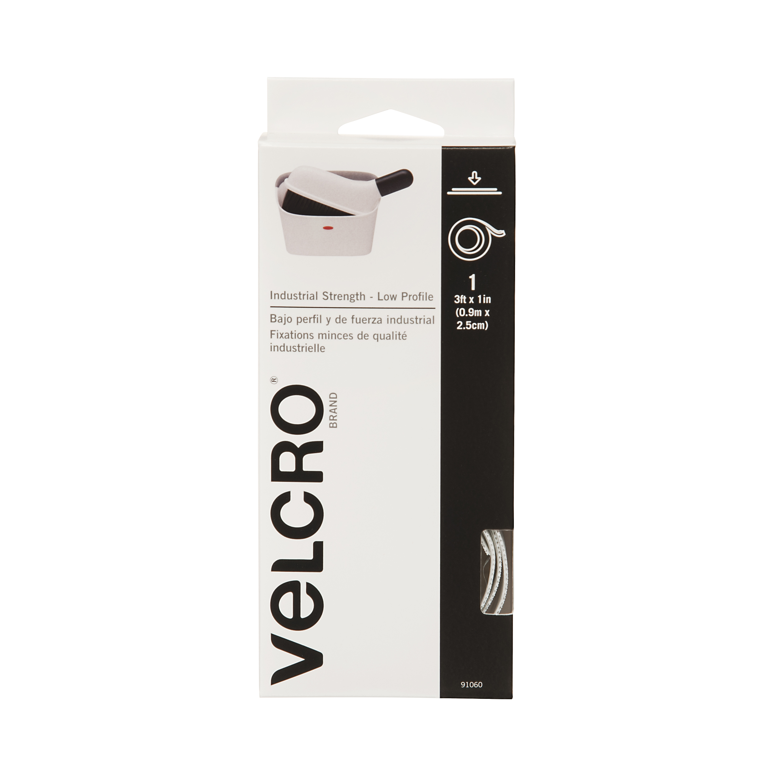 VELCRO Brand Industrial Strength Low Profile 3\u0027 x 1\u0022 White