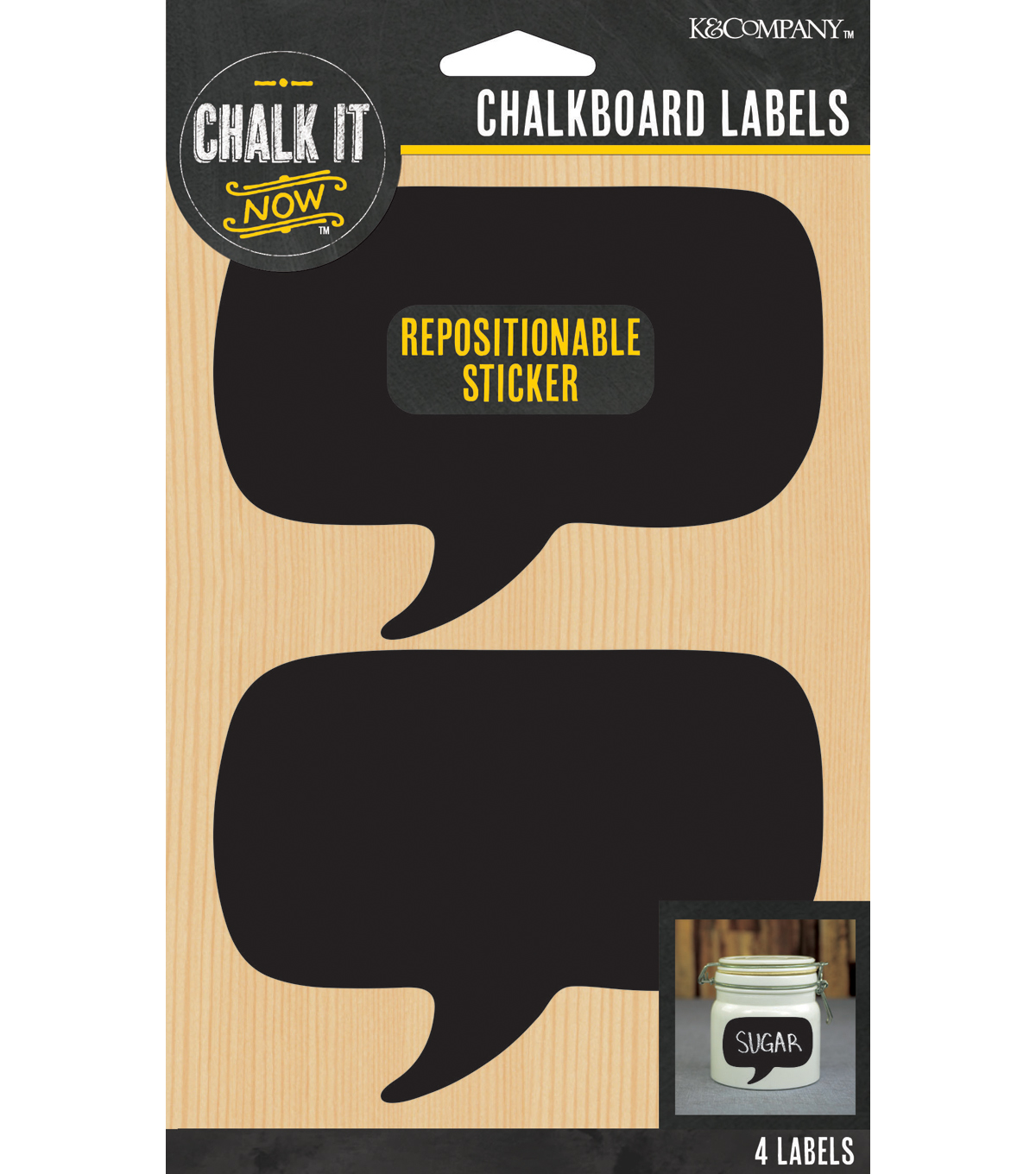Chalk it Now - Word Bubble Chalkboard Labels