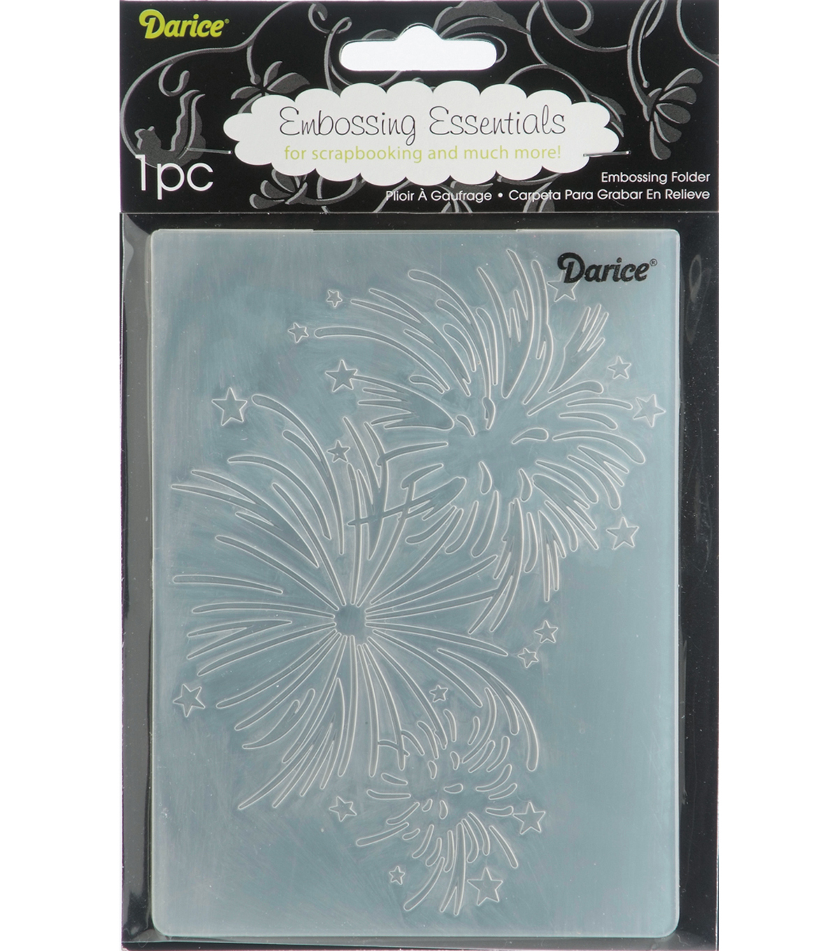 Embossing Folder 4.25\u0022X5.75\u0022-Fireworks
