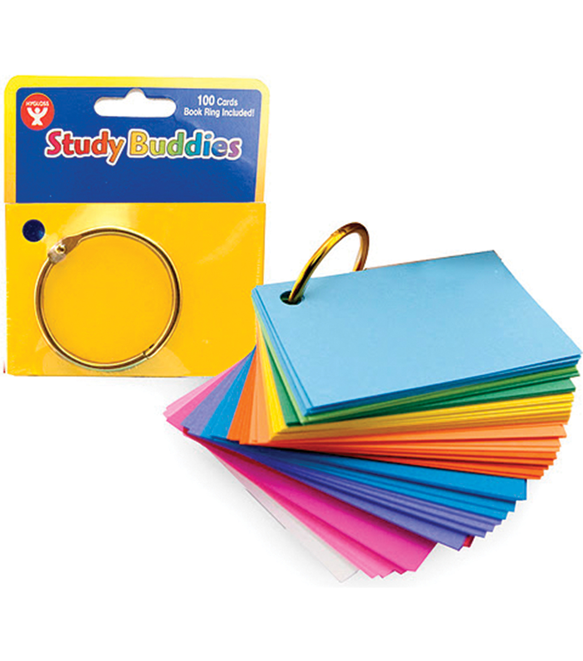 Study Buddies 100/Pkg Plus Binder Ring-Assorted Colors