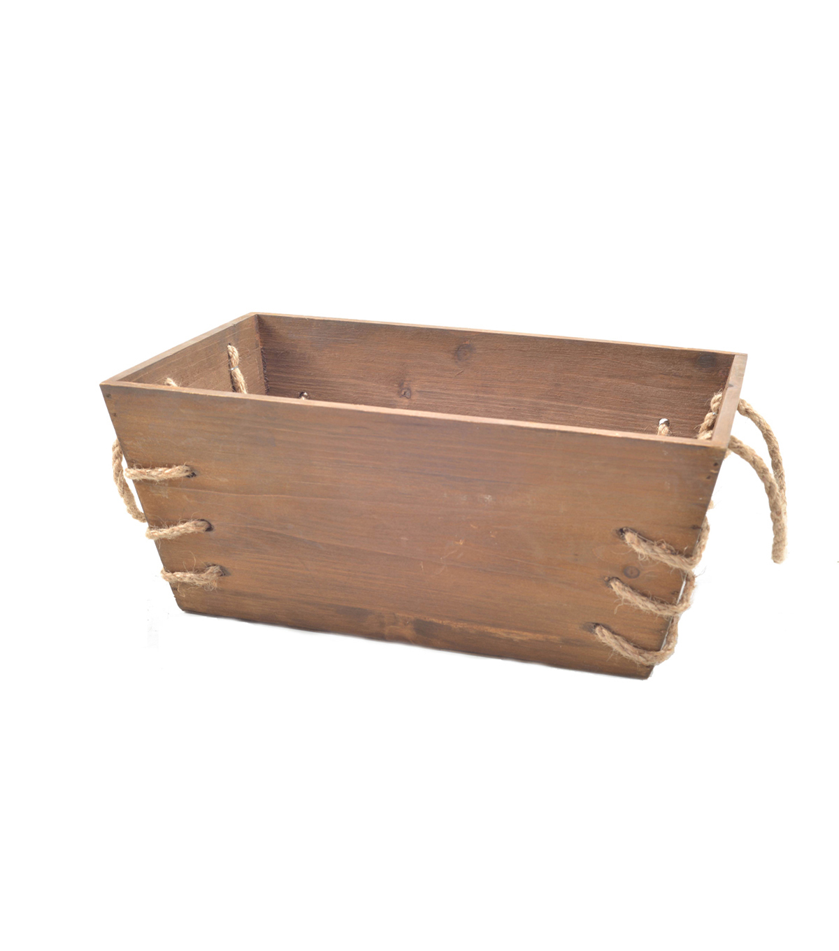 Bloom Room Large Wood Planter With Roping