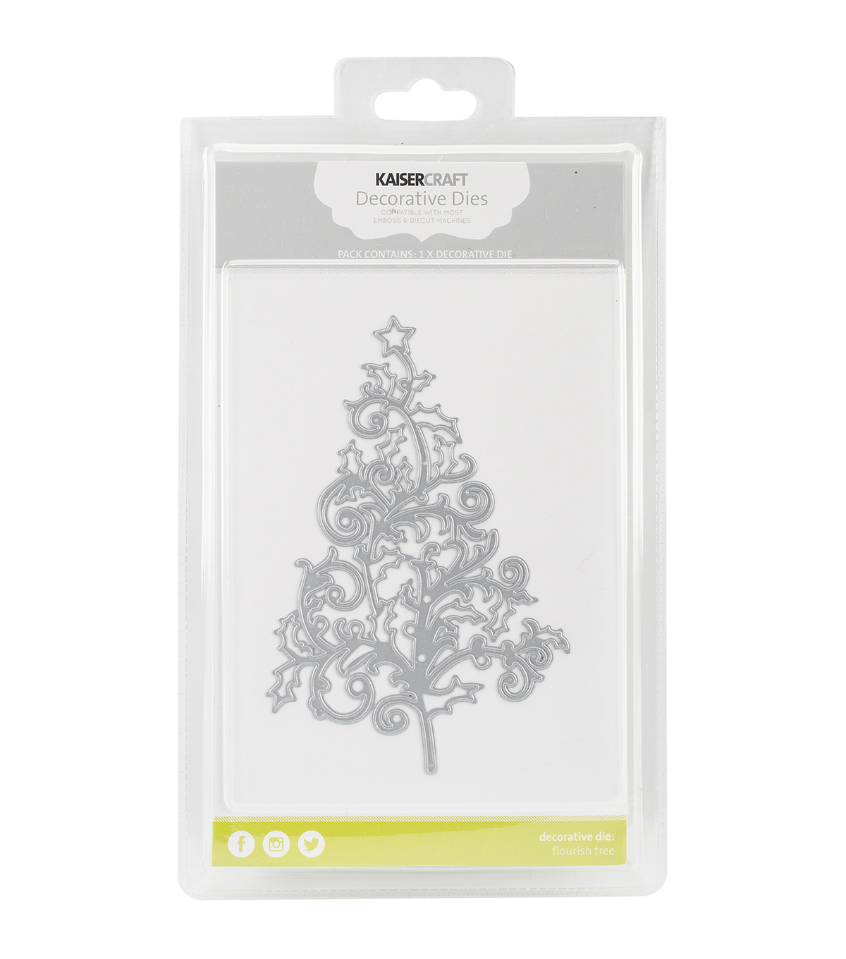 Kaisercraft Decorative Die-Flourish Tree