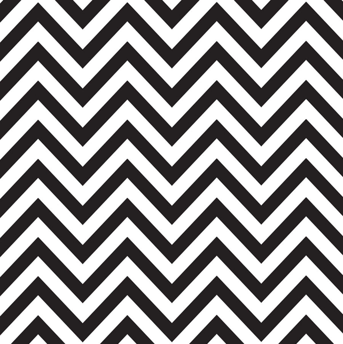 Canvas Corp Printed Single-Sided Black  & White Chevron Reverse Cardstock