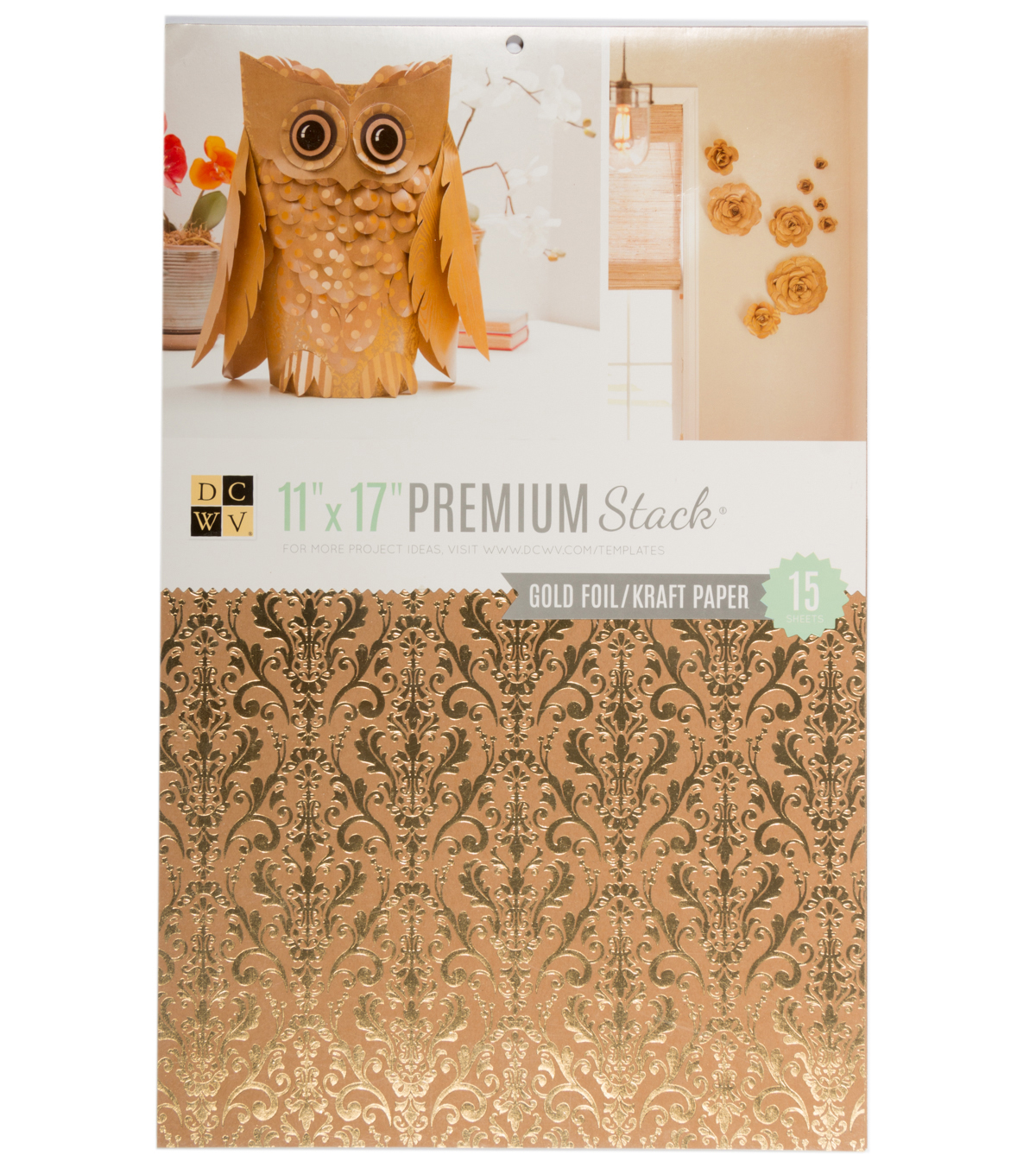 DCWV 11\u0022x17\u0022 Kraft stack with foil