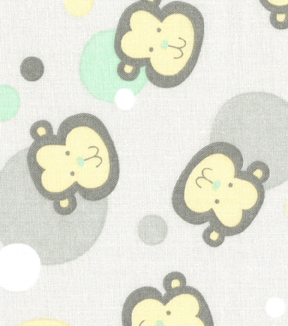 Nursery Fabric - Monkey Dots