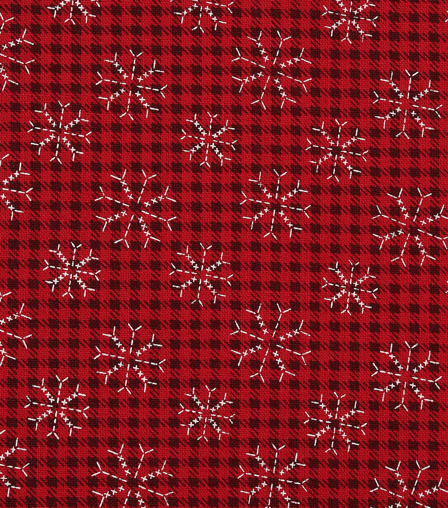 Christmas Cotton Fabric 43\u0022-Stitched Snowflakes