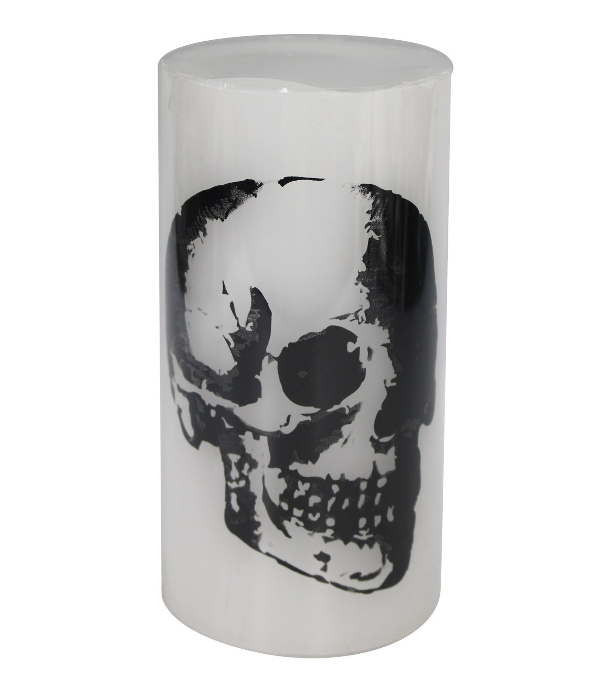 Maker\u0027s Halloween 3\u0027\u0027x6\u0027\u0027 Silk-screened LED Candle-Skull