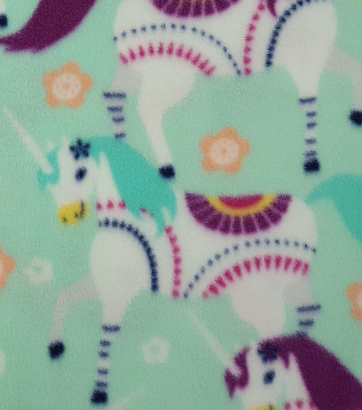 Anti-Pill Fleece Fabric 59\u0022-Patterned Unicorns